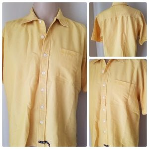 US Polo Association Yellow Short Sleeve Button Up